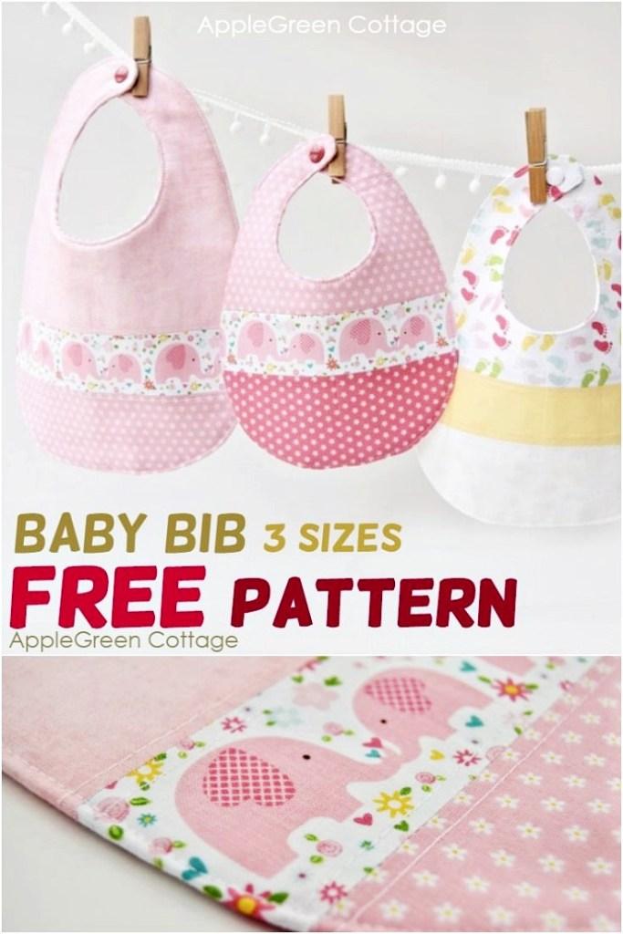 Baby Bib Pattern – The Best Free Baby Bib Pattern in 3 Sizes