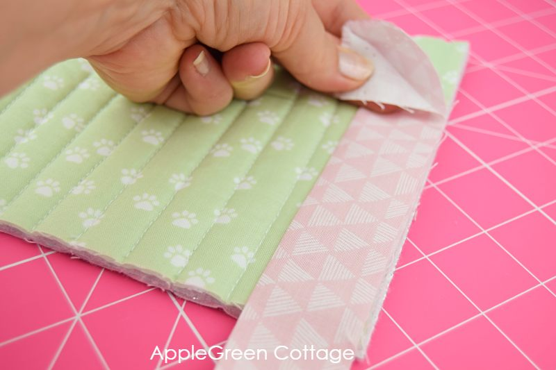 mitered corners on a quilt binding