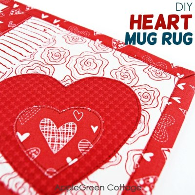 valentines day diy mug rug