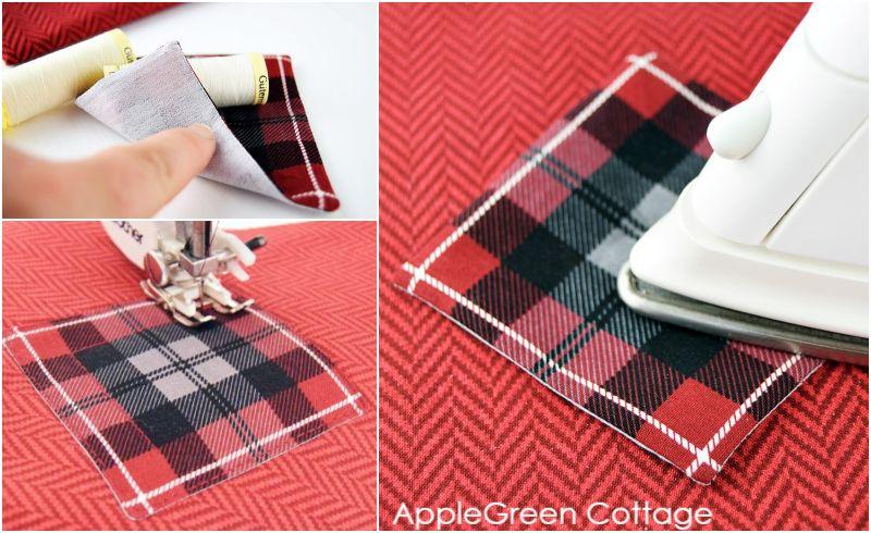 iron pressing applique on fabric