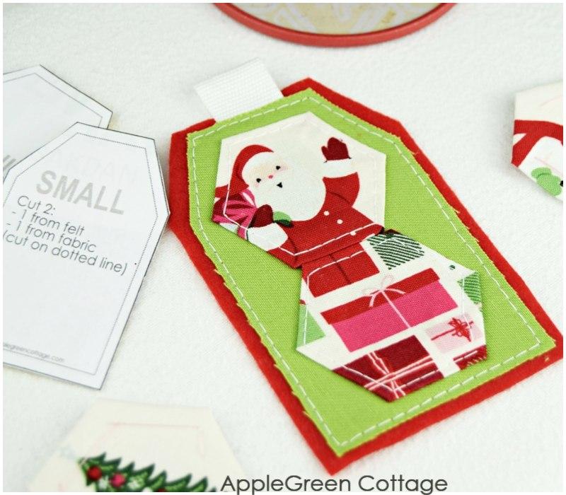 santa image on diy gift tag