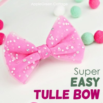 diy tulle bow tutorial and video