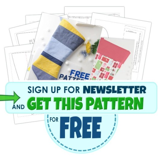 get free quilted christmas stocking pattern