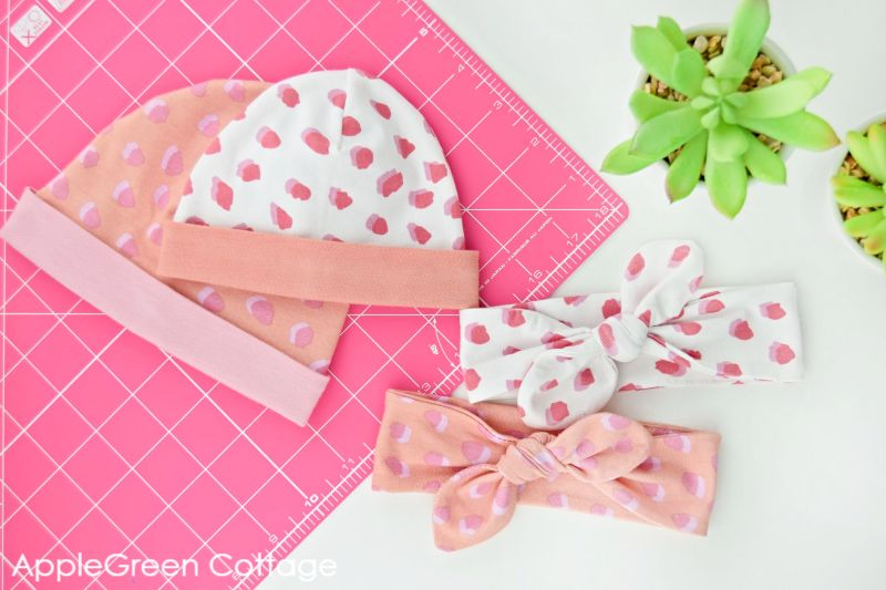 diy baby accessories in pink