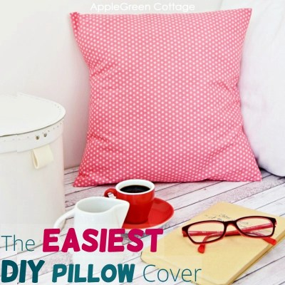 easy pillow cover to sew