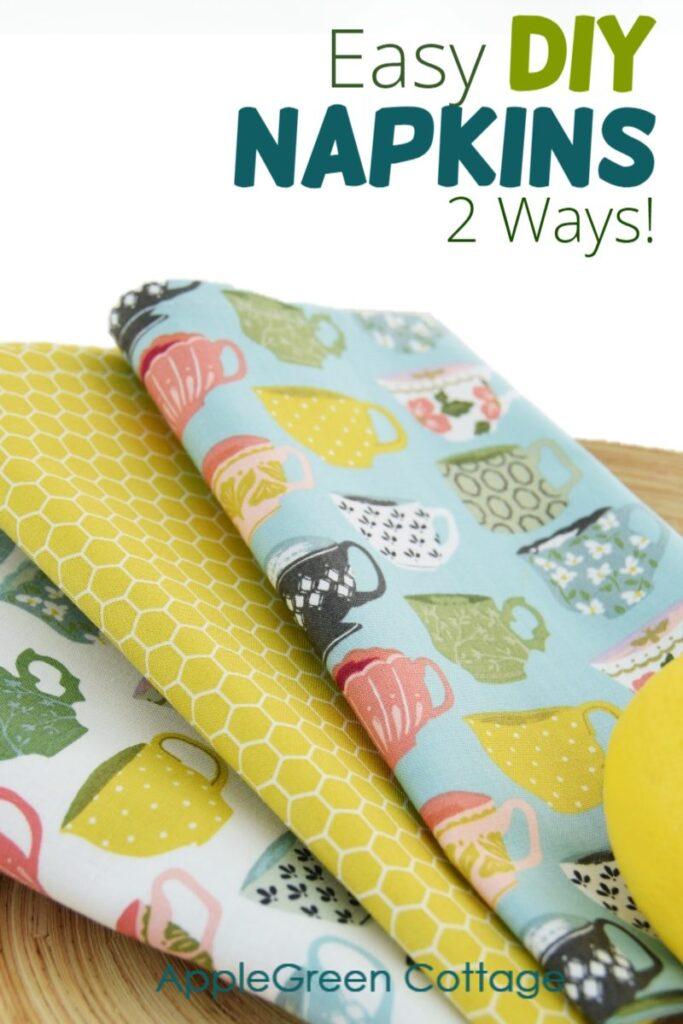 2 Easy Ways to Sew Cloth Napkins