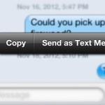 Invia un iMessage come messaggio di testo con un rapido tocco