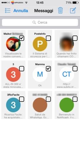 Grid Messages, visualizzare a griglia le nostre conversazioni nell'app Messaggi Modifica