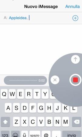 PushRecord inviare un iMessage vocale con le mani libere