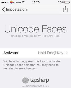 Unicode Faces, come aggiungere una tastiera unicode_preferenze