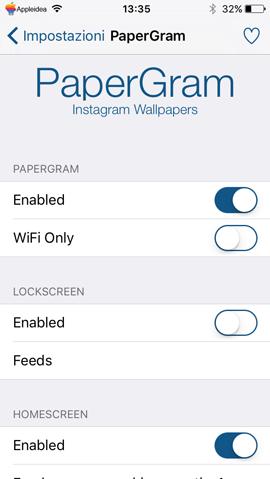 PaperGram,-come-impostare-automaticamente-come-sfondo-di-iPhone-le-foto-dei-canali-preferiti-di-Instagram_settings