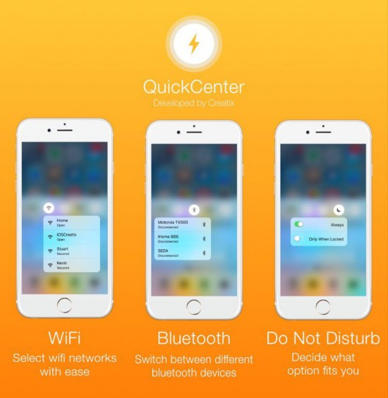 QuickCenter, come avere i menu 3D Touch all'interno del Centro di Controllo