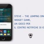 Steve – The Jumping Dinosaur Widget Game,  un gioco per il Centro Notifiche di iOS