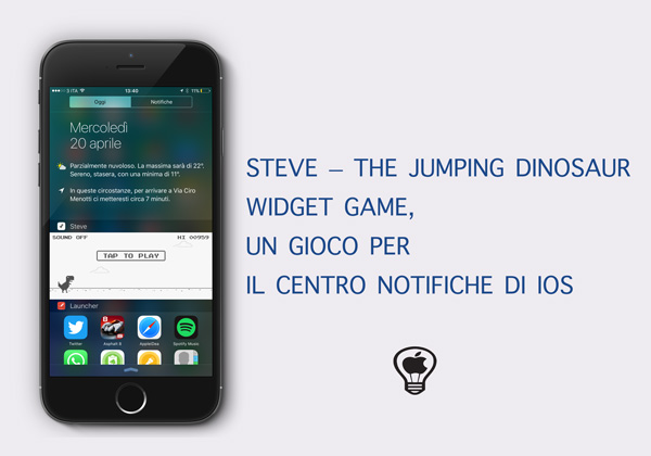 Steve---The-Jumping-Dinosaur-Widget-Game,--un-gioco-per-il-Centro-Notifiche-di-iOS