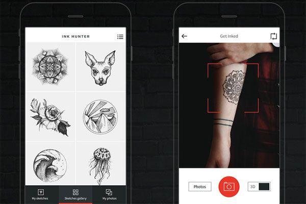 InkHunter,  prova virtualmente un tatuaggio direttamente sulla tua pelle