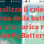 Personalizza il colore dell'icona della batteria in base alla carica residua con ColorMyBattery