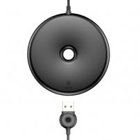 BASEUS bezdrátová QI nabíječka ve stylu donutu pro Apple iPhone - černá