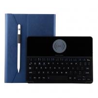 """Kryt s klávesnicí s bezdrátovým nabíjením pro Apple iPad 9,7"""" (2017/2018) / Air 1/2 / Pro 9,7"""" - tmavě modrý"""