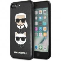 Karl Lagerfeld Karl and Choupette pouzdro pro iPhone 7 Plus / 8 Plus - černé