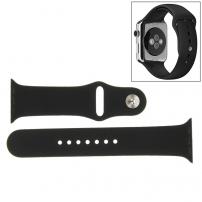 Silikonový sportovní řemínek pro Apple Watch 40mm / 38mm - S/M - černý