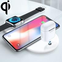 Bezdrátová Qi nabíjecí podložka pro iPhone / Watch / AirPods - bílá
