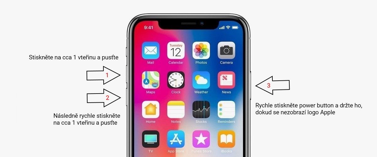 Jak restartovat iPhone  Různě c45842182ac