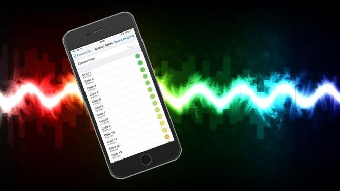 iPhone - jak změnit barvu indikátoru baterie