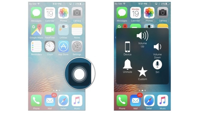Assistive touch - iPhone