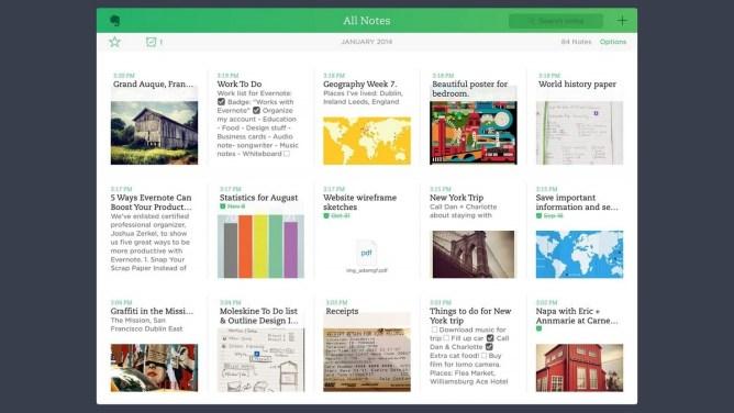 Evernote - zapisování poznámek na iPadu