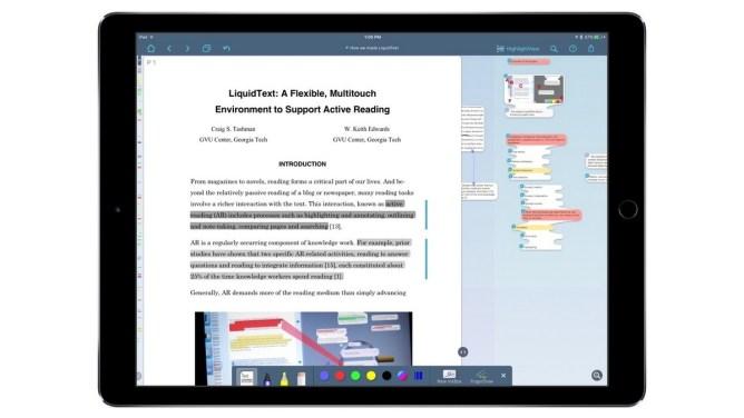 iPad - LiquidText PDF Reader - editace PDF dokumentů na iPadu
