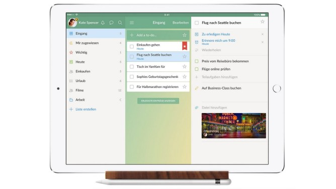 iPad - Wunderlist - organizujte projekty na iPadu