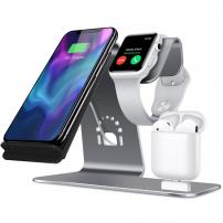 Töltő állvány iPhone / Watch / Airpods - ezüst