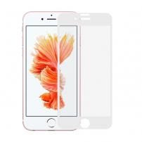 Sticlă durificată super rezistentă (Tempered Glass), pentru Apple iPhone 8 Plus / 7 Plus - albă