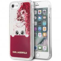 Husă Karl Lagerfeld Peek a Boo Glitter, pentru iPhone 7 / 8 - roşu
