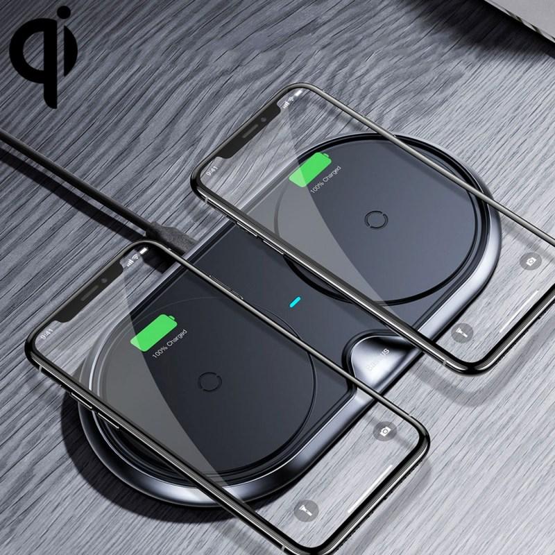 încărcător fără fir două iPhone
