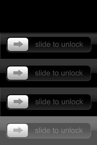 Apple slidetounlock