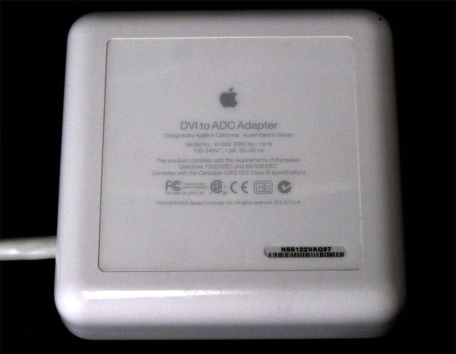 G5 /& Mac Pro! Apple Mac A1006 DVI to ADC Adapter M8661LL//A ~ Works w// G4