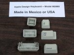 Apple Design Keyboard Key Caps (Mexico or USA)(Nice)