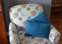 Chunky knit pillows  Apples & Beavers