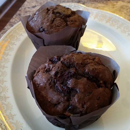 Chocolate Cherry Zucchini muffins….when you have loads of zucchini