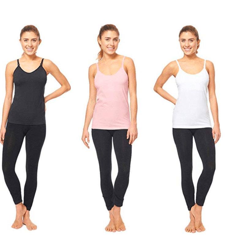 What to pack in your pregnancy hospital bag breast feeding tank tops