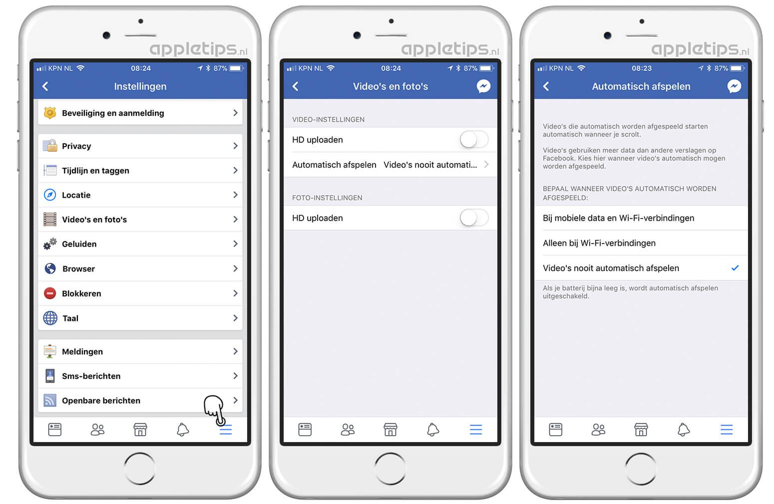 6b38562e137a37 Facebook: Het automatisch afspelen van video's uitschakelen - appletips