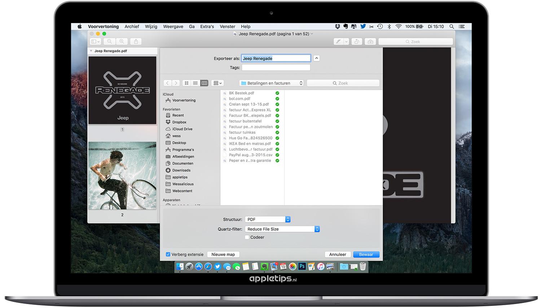 pdf bestanden verkleinen op een mac met voorvertoning - appletips