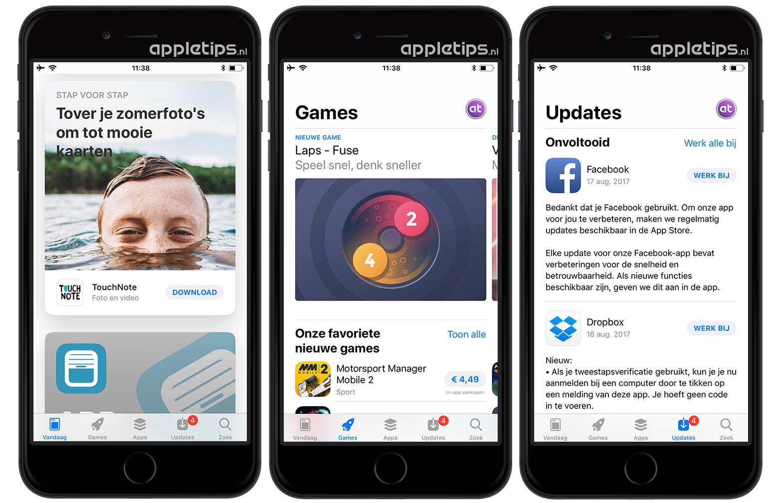 Overzicht Van Alle Nieuwe Opties In De Ios 11 App Store Appletips