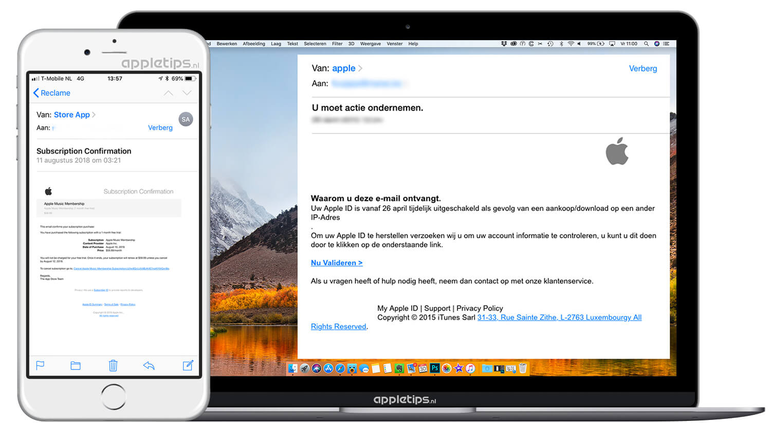 Herkennen van Apple phishing mail - appletips