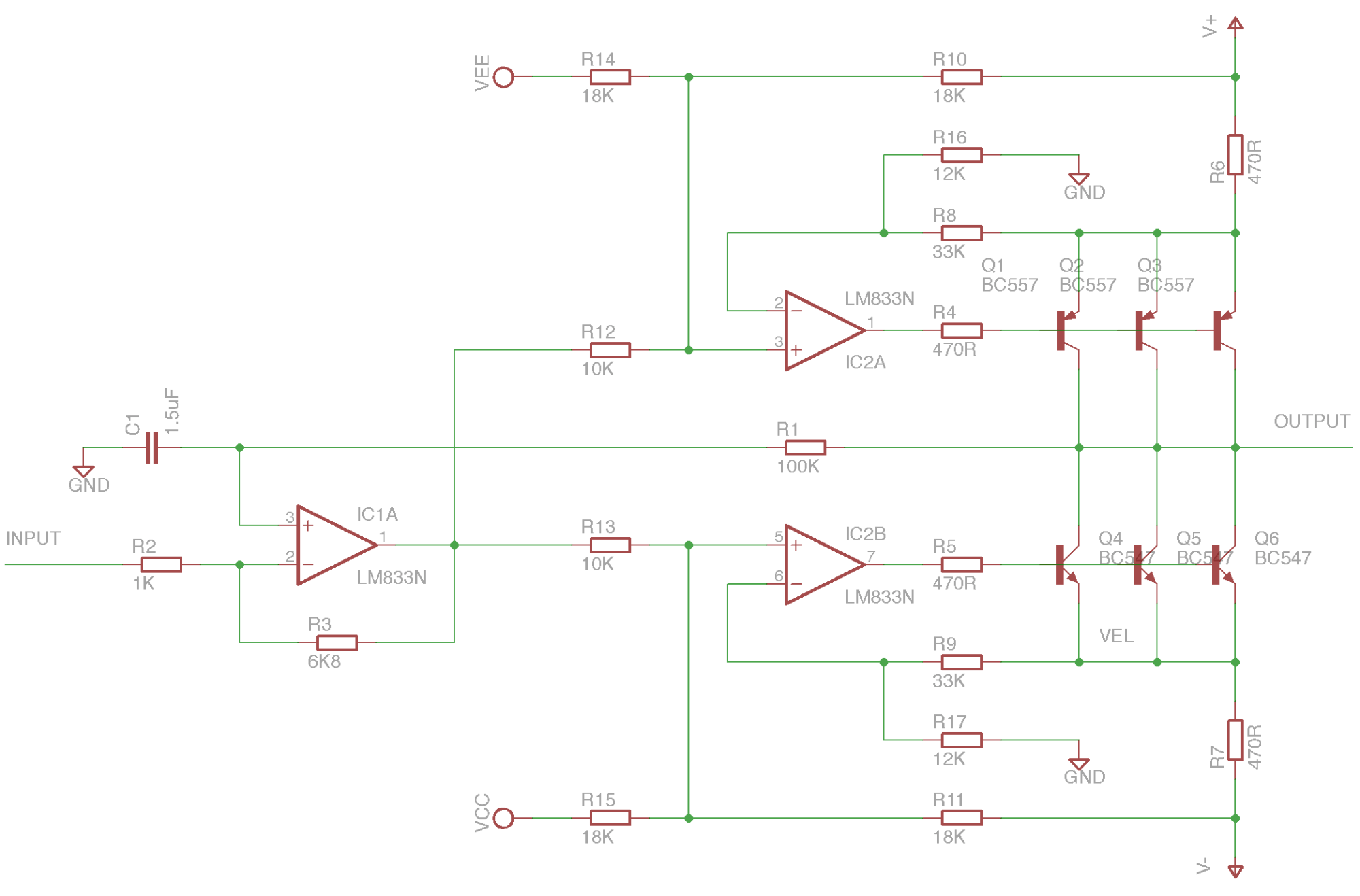hight resolution of electrical schematic for the main amplifier design
