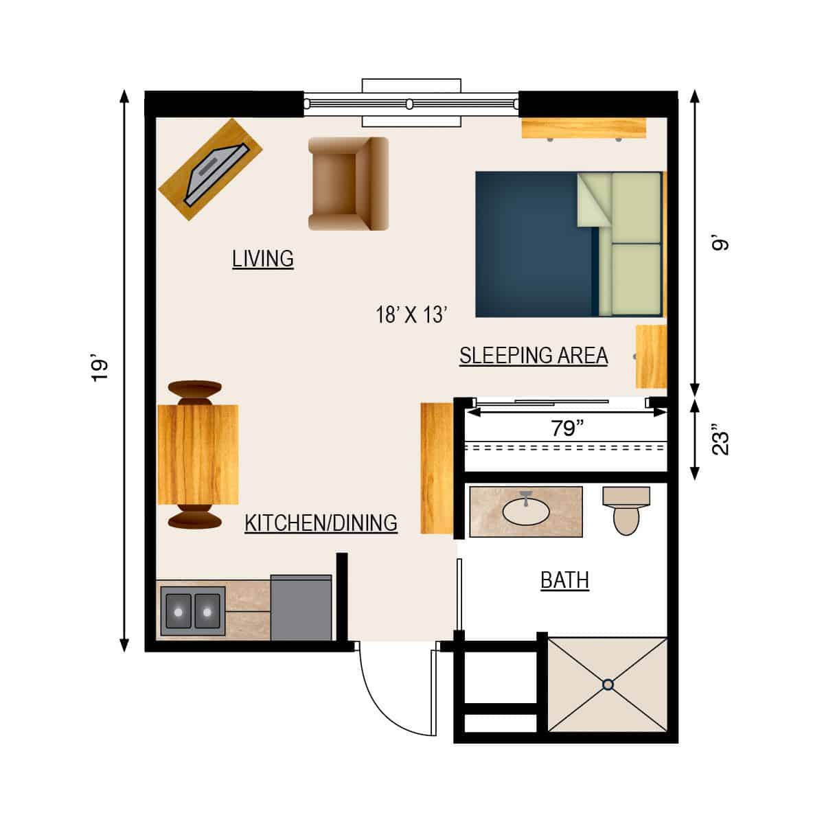retirement home floor plans