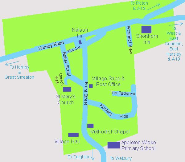 Appleton Wiske - Village Map
