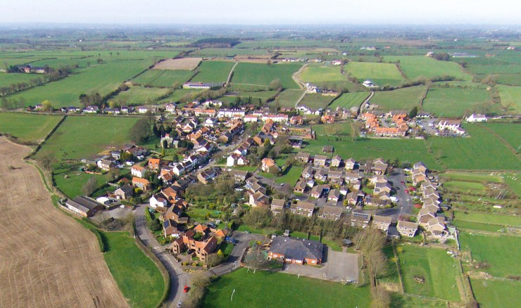Appleton Wiske - Village Aerial Photo