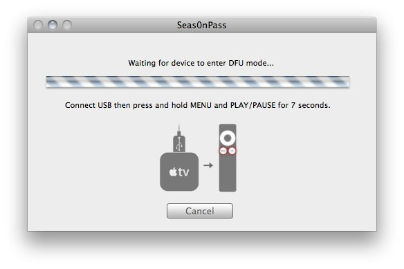 Seas0nPass 04 How to jailbreak Apple TV 2 on iOS 4.2.1 with Seas0nPass